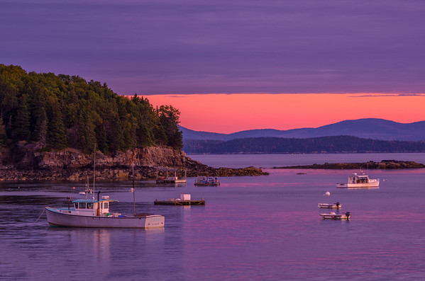 Bar Harbor at Sunrise, Bar Harbor, Maine.
