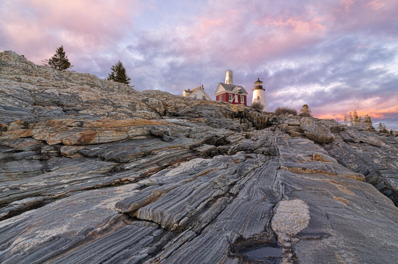 Sunset at Pemaquid Point Light, Bristol, Maine 6753