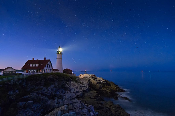 Starry Portland Head Light, Cape Elizabeth, Maine 8199
