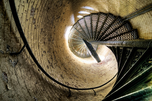 Inside the Lighthouse, Portland Head Light, Cape Elizabeth, Maine