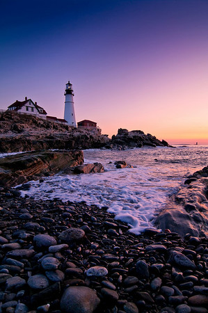 Portland Head Light Twilight, Cape Elizabeth, Maine