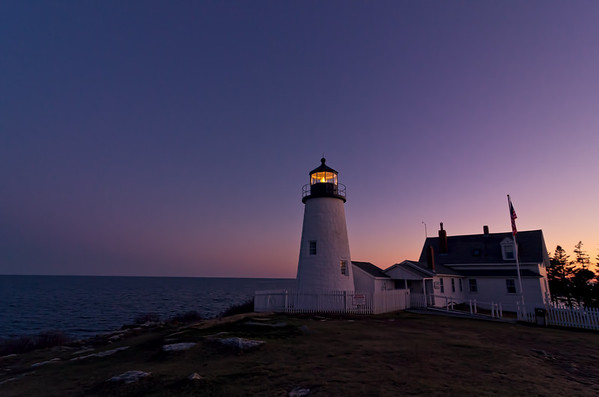 Pemaquid Point Light at Twilight, Bristol, Maine