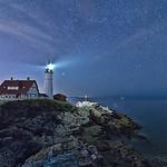 Starry Portland Head Light, Cape Elizabeth, Maine
